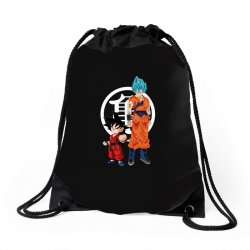 goku and super saiyan Drawstring Bags | Artistshot