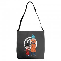 goku and super saiyan Adjustable Strap Totes | Artistshot