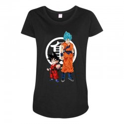 goku and super saiyan Maternity Scoop Neck T-shirt | Artistshot