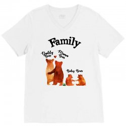 family bears V-Neck Tee | Artistshot