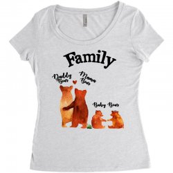 family bears Women's Triblend Scoop T-shirt | Artistshot