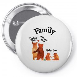 family bears Pin-back button | Artistshot