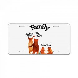 family bears License Plate | Artistshot