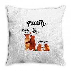 family bears Throw Pillow | Artistshot