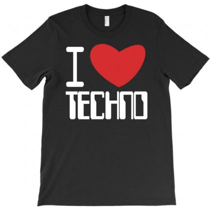 I Love Techno Club,ibiza,dj,music,rave T-shirt Designed By Ancart