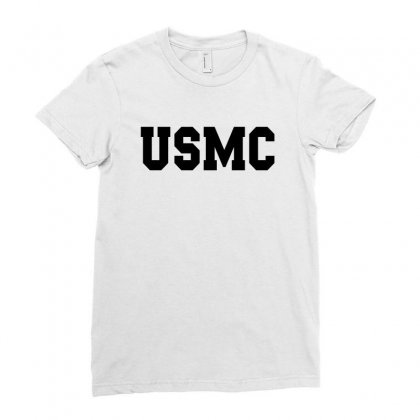 Usmc - Military Army Patriot America United States Ladies Fitted T-shirt Designed By Meza Design
