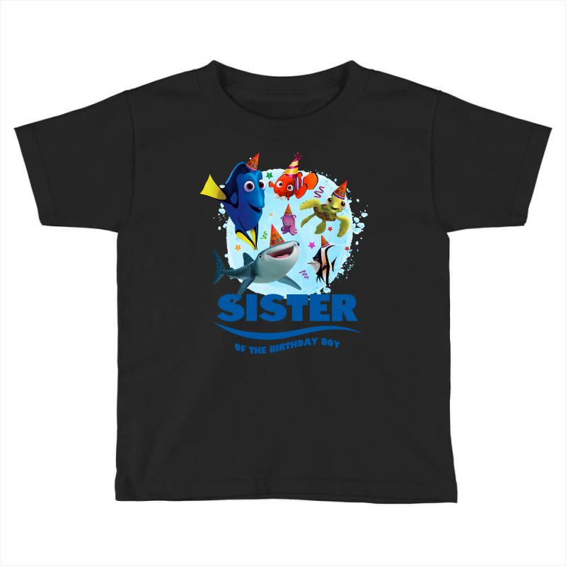 Nemo Sister Of The Birthday Boy Toddler T Shirt