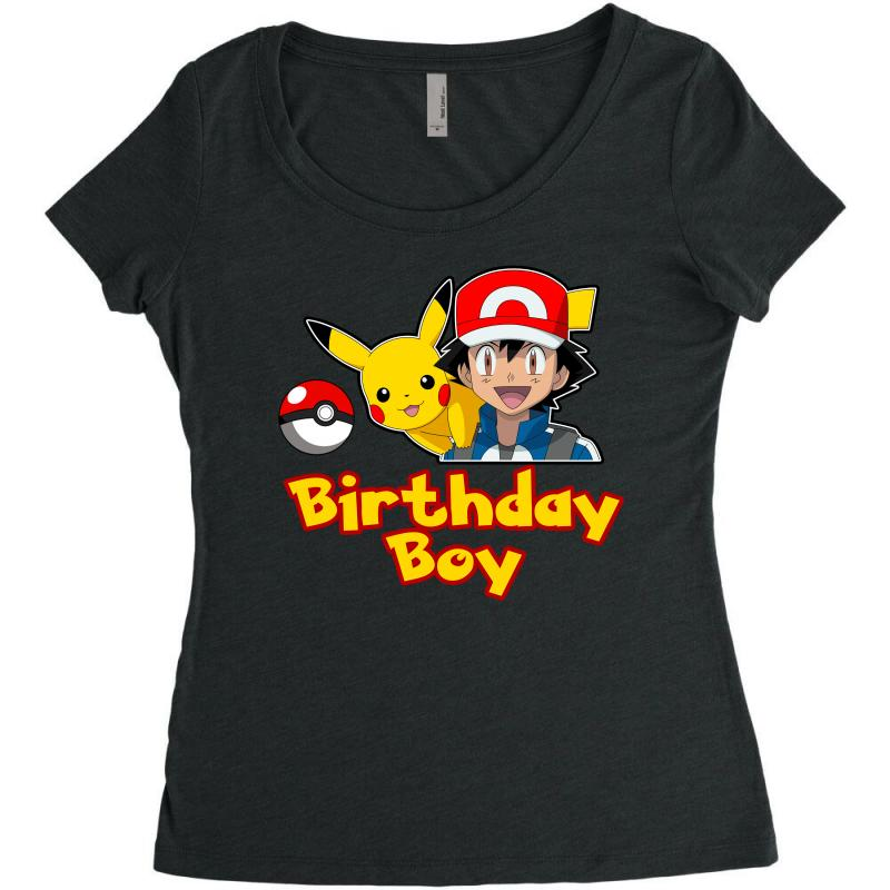 57983ef8 Custom Pokemon Birthday Boy Women's Triblend Scoop T-shirt By ...