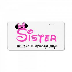 disney family sister License Plate | Artistshot