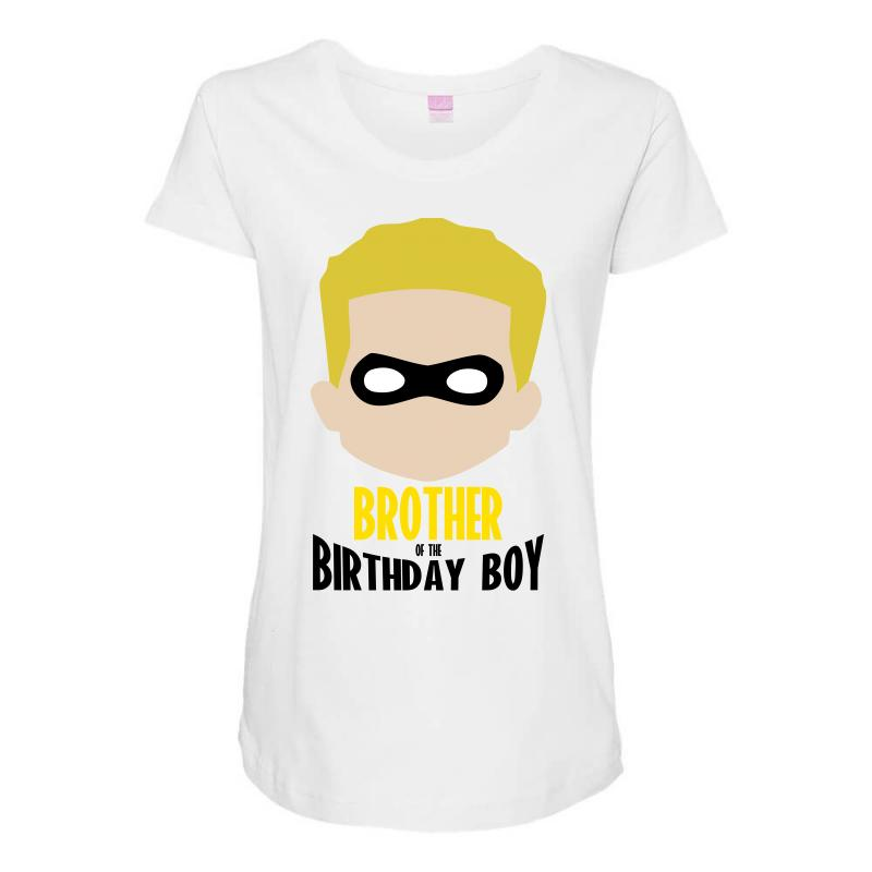 The Incredibles Brother Of Birthday Boy Maternity Scoop Neck T Shirt