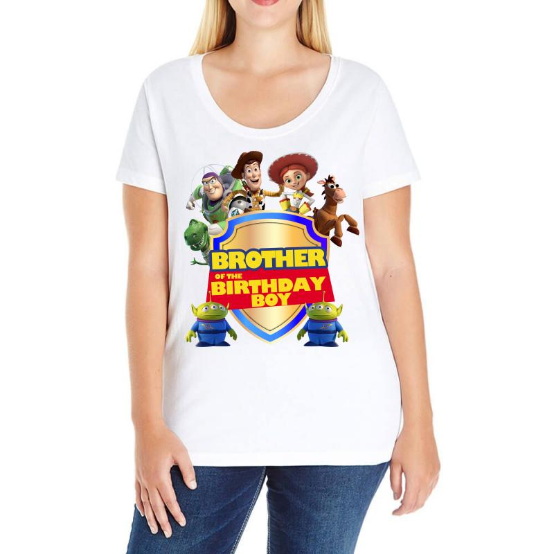 Toy Story Brother Of The Birthday Boy Ladies Curvy T Shirt