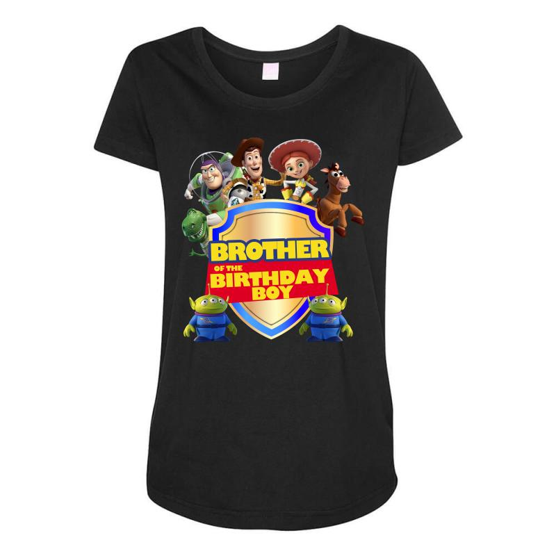 Toy Story Brother Of The Birthday Boy Maternity Scoop Neck T Shirt