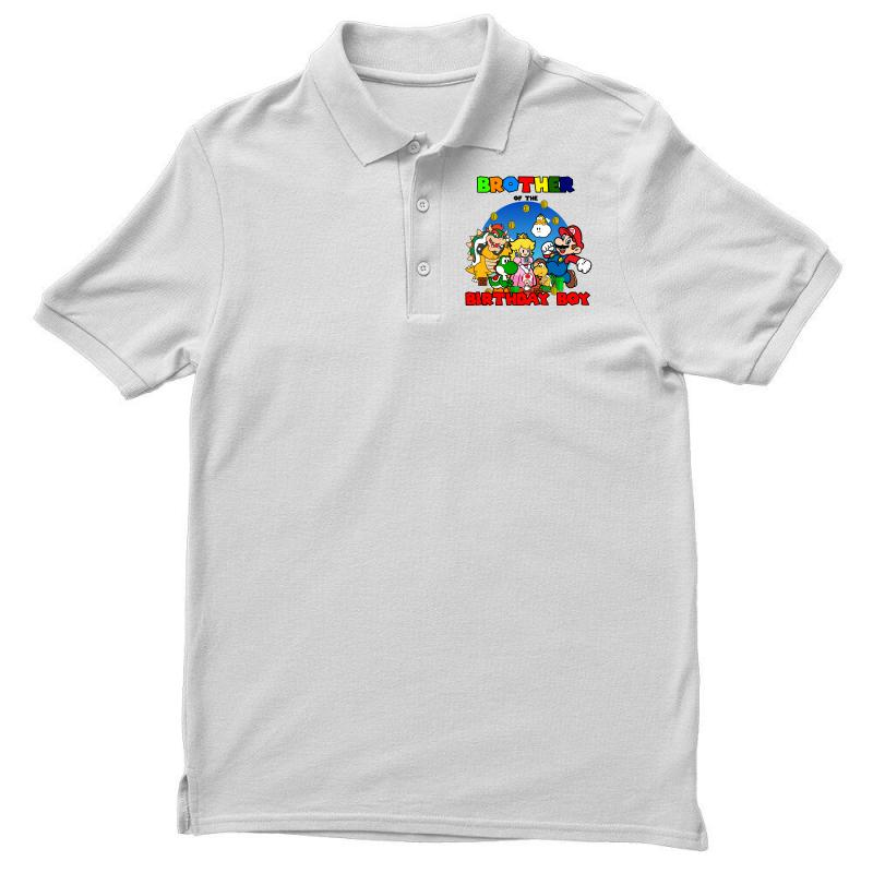 Custom Super Mario Brother Of The Birthday Boy Polo Shirt By