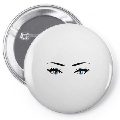 Blue Eyes Pin-back Button Designed By Igun