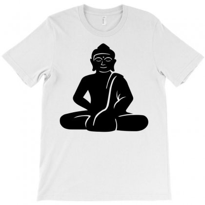 Buddha Meditating T-shirt Designed By Igun