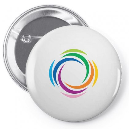 Abstract Colorful Pin-back Button Designed By Igun
