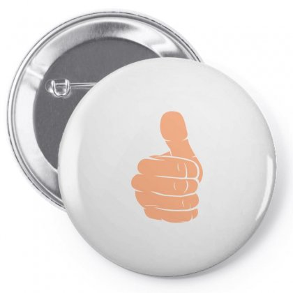 Hand Thumbs Up Pin-back Button Designed By Igun