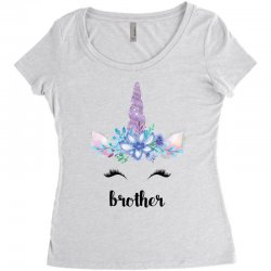 birthday unicorn family series brother Women's Triblend Scoop T-shirt | Artistshot