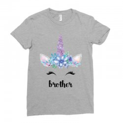 birthday unicorn family series brother Ladies Fitted T-Shirt | Artistshot