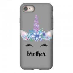 birthday unicorn family series brother iPhone 8 Case | Artistshot