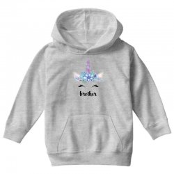 birthday unicorn family series brother Youth Hoodie | Artistshot