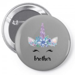 birthday unicorn family series brother Pin-back button | Artistshot