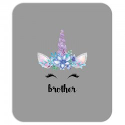 birthday unicorn family series brother Mousepad | Artistshot