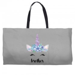 birthday unicorn family series brother Weekender Totes | Artistshot