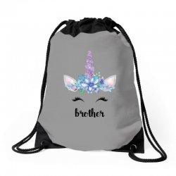birthday unicorn family series brother Drawstring Bags | Artistshot