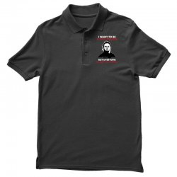 michael myers i want to be a nice person but everyone is just stupid Polo Shirt | Artistshot