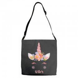 birthday unicorn family series sister Adjustable Strap Totes | Artistshot