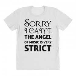 Mad Over Shirts Sorry I Cant The Angel of Music is Very Strict Unisex Premium Tank Top