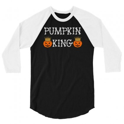 Halloween Pumpking 3/4 Sleeve Shirt Designed By Aheupote