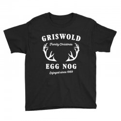 griswold family christmas egg nog with horn Youth Tee | Artistshot