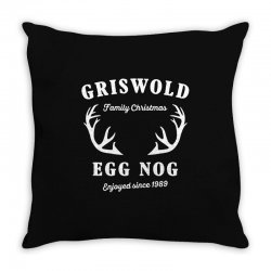 griswold family christmas egg nog with horn Throw Pillow | Artistshot