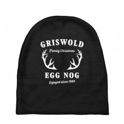 griswold family christmas egg nog with horn Baby Beanies | Artistshot
