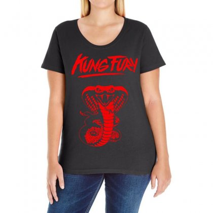 Kung Fury Ladies Curvy T-shirt Designed By Ancart