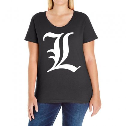 L Death Note Ladies Curvy T-shirt Designed By Ancart