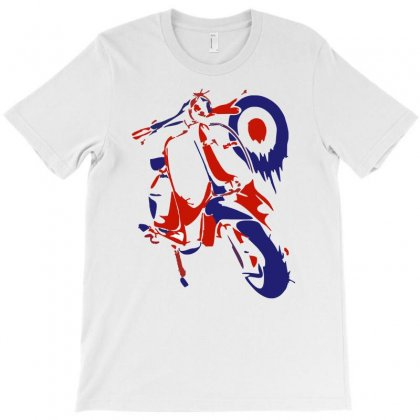 Lambretta Red White & Blue Ideal Birthday Present Gift T-shirt Designed By Ancart