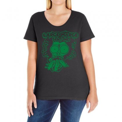 Large Marge Ladies Curvy T-shirt Designed By Ancart
