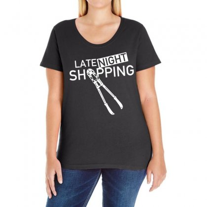 Late Night Shopping Ladies Curvy T-shirt Designed By Ancart