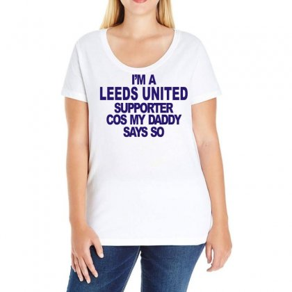 Leeds United Supporter Ladies Curvy T-shirt Designed By Ancart