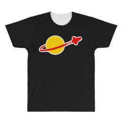 lego classic space logo big bang theory All Over Men's T-shirt | Artistshot
