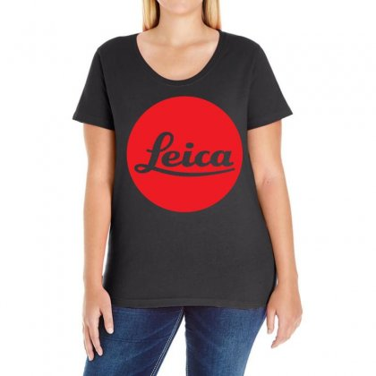 Leica Red Logo Ladies Curvy T-shirt Designed By Ancart