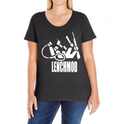 Lench Mob Ice Cube Nwa West Coast Ladies Curvy T-shirt Designed By Ancart