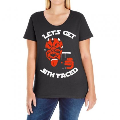 Let's Get Sith Faced (2) Ladies Curvy T-shirt Designed By Ancart