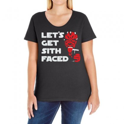 Let's Get Sith Faced Ladies Curvy T-shirt Designed By Ancart
