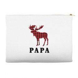 reindeer christmas family papa Accessory Pouches   Artistshot