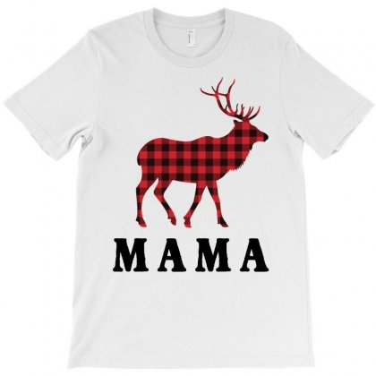 Reindeer Christmas Family Mama T-shirt Designed By Akin