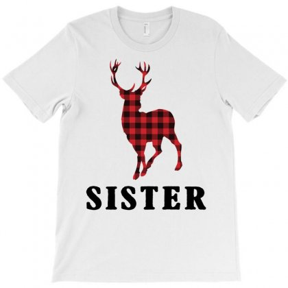 Reindeer Christmas Family Sister T-shirt Designed By Akin